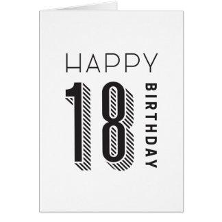 Glücklicher Geburtstag 18 Karte
