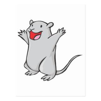 Glücklicher Gerbil-Cartoon Postkarte