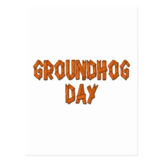 Glücklicher Groundhogs Tag Postkarte