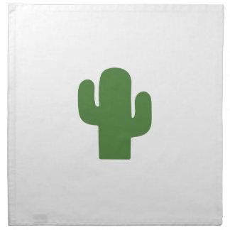Glücklicher grüner Kaktus im rosa Sommer Serviette
