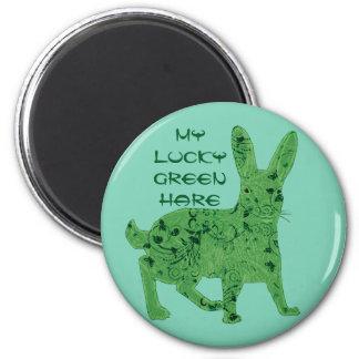 Glücklicher grüner Magnet der Hasen |