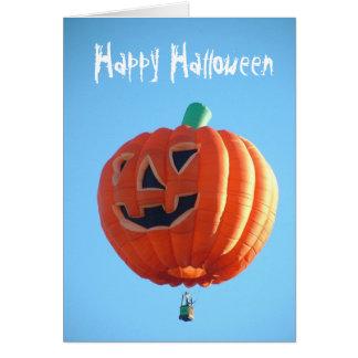 Glücklicher Halloween-Ballon Karte
