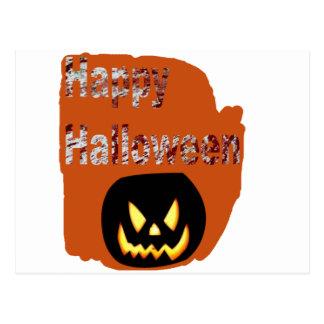 Glücklicher Halloween-Blut-Spritzer-Entwurf Postkarte