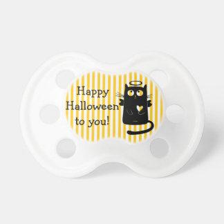 Glücklicher Halloween-Engel Katzen-Herz-Schnuller Schnuller