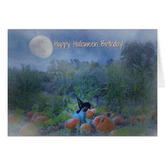 Glücklicher Halloween-Geburtstags-niedliche Karte