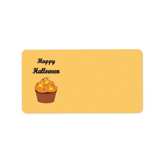 Glücklicher Halloween-kleiner Kuchen Adressaufkleber