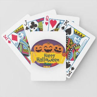 Glücklicher Halloween-Kürbis Bicycle Spielkarten
