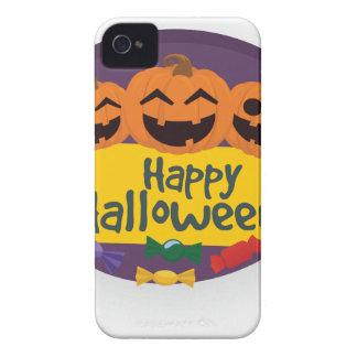 Glücklicher Halloween-Kürbis iPhone 4 Hüllen