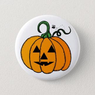 Glücklicher Halloween-Kürbis-Knopf Runder Button 5,7 Cm
