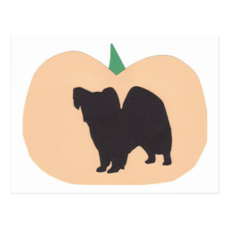 Glücklicher Halloween-Kürbis Papillon Postkarte
