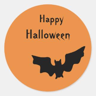 Glücklicher Halloween-Schläger-Aufkleber Runder Aufkleber