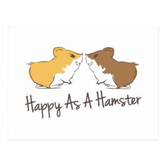 Glücklicher Hamster Postkarte