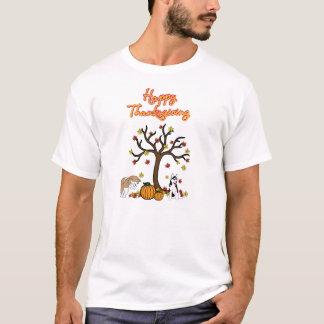 Glücklicher heiserer Erntedank-T - Shirt