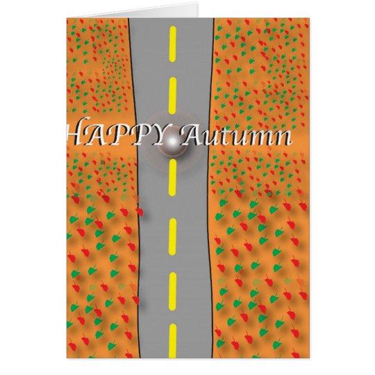 glücklicher Herbst Karte