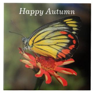 Glücklicher Herbst-Schmetterling Keramikfliese