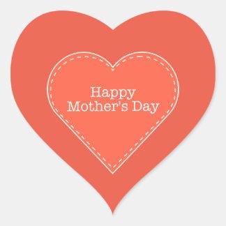 Glücklicher Herz-Aufkleber der Mutter orange Tages