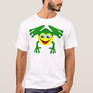 Glücklicher Hopfen-Cartoon-Frosch T-Shirt