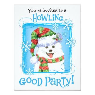 Glücklicher Howliday Eskimohund 10,8 X 14 Cm Einladungskarte