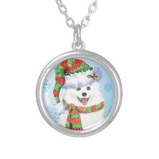 Glücklicher Howliday Eskimohund Versilberte Kette