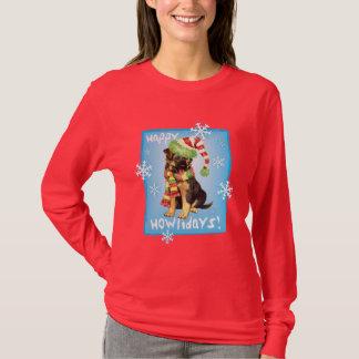 Glücklicher Howliday Schäferhund T-Shirt