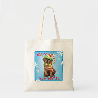 Glücklicher Howlidays Schokoladen-Labrador Tragetasche