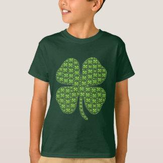 Glücklicher irischer Klee-Kinder grün T-Shirt