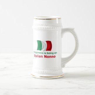 Glücklicher Italiener Nonno Bierglas