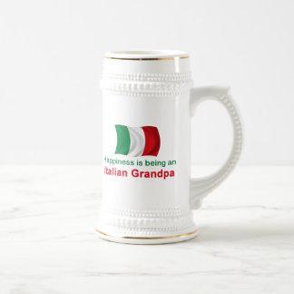 Glücklicher italienischer Großvater Bierglas