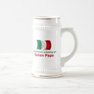 Glücklicher italienischer Papa Bierglas