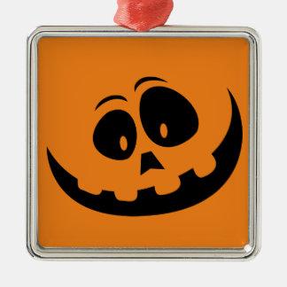 Glücklicher Jack-O' - Laternen-Kürbis - fertigen Silbernes Ornament