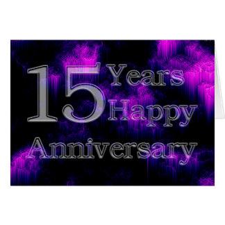 Glücklicher Jahrestag 15 Jahre (Hochzeitstag) Karte