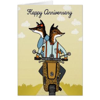 Glücklicher Jahrestag - Füchse in der Liebe - Karte