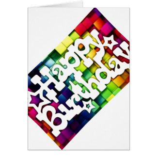 Glücklicher Jahrestag - Happy Birthday Grußkarte
