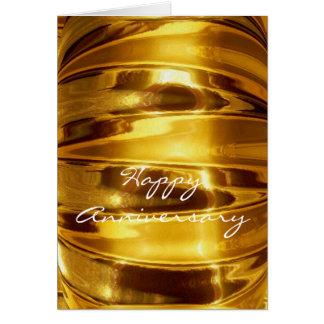 Glücklicher Jahrestag in funkelndem Gold Karte