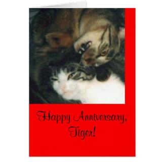 Glücklicher Jahrestag, Tiger! Grußkarte