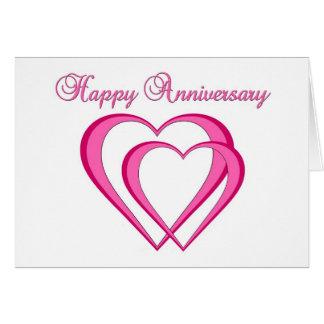 Glücklicher Jahrestag und glücklicher Valentinstag Grußkarte