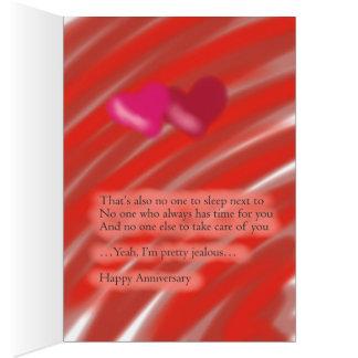 Glücklicher Jahrestag von einem Single-Freund Grußkarte