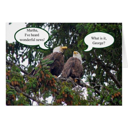 Glücklicher Jahrestag, Weißkopfseeadler-Karte Grußkarte