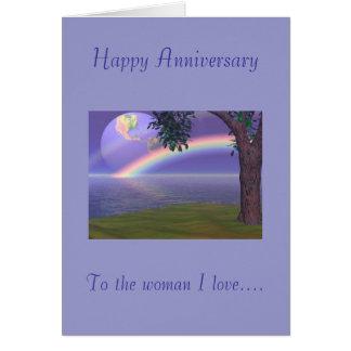 Glücklicher Jahrestag, zur Liebe der Frau I Grußkarte