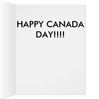 Glücklicher Kanada-Tag Karte