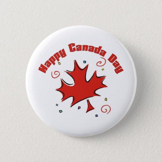 Glücklicher Kanada-Tag Runder Button 5,1 Cm