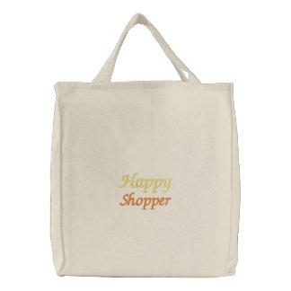 Glücklicher Käufer gestickte Tasche