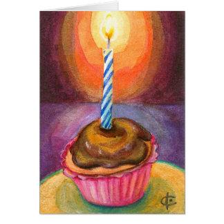 Glücklicher kleiner Kuchen! Mitteilungskarte