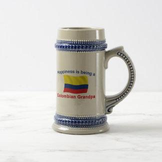 Glücklicher kolumbianischer Großvater Bierglas