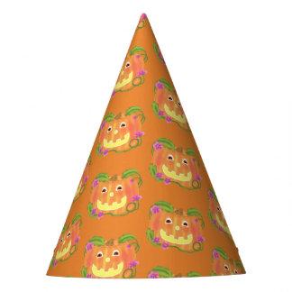 Glücklicher Kürbis-Partyhut Partyhütchen
