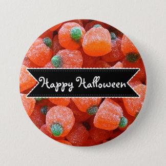 Glücklicher Kürbis-Süßigkeits-Knopf Halloweens Runder Button 7,6 Cm