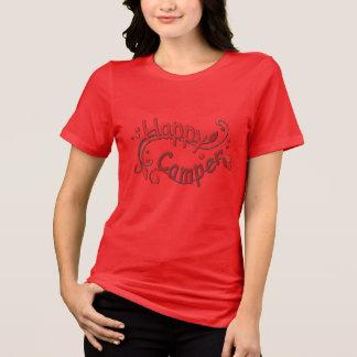 Glücklicher Lagerbewohner-Campings-roter Damen-T - T-Shirt