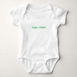 Glücklicher Lagerbewohner-Shirt Baby Strampler