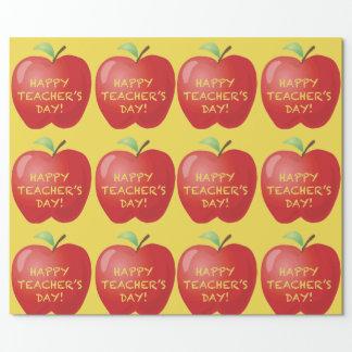 Glücklicher Lehrer-Tag Apple Geschenkpapier