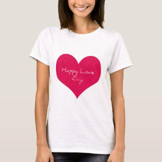 Glücklicher Liebe-Tag T-Shirt